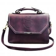 Mode PU Mini Messenger Bag Freizeit Retro Geprägt Abzeichen Schultertasche