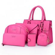 solide Farbe Pfeil Sechs-Stück Schulter Bote Tasche Handtasche  Cartbag