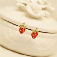 Süße Frische Nette Erdbeere Ohrstecker