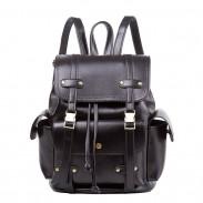 Retro drei Taschen zwei Gürtel Schultasche Freizeit braun England Stil Reiserucksack