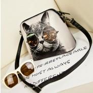 Nette Katze Retro Mode Persönlichkeit Umhängetasche