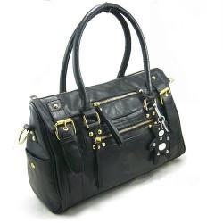 Mode Classic Black Rivet Bär Handtasche