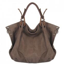 Damen Ursprüngliche Freizeit einfache feste Segeltuch Hobo Handtasche Schultertasche