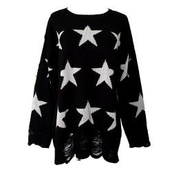 Einzigartige Stars Printed Strick & Pullover