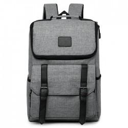Mode Doppelte Schnalle Schultasche Rucksack Wasserdichter Oxford-Computer-Studentenrucksack mit großer Kapazität