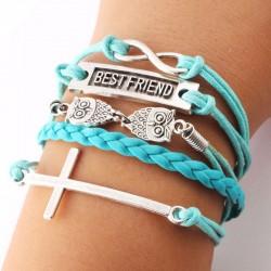 Beste Freund Eule Kreuz Unendlichkeit Armbänder