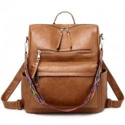 Mode INS Style Multifunktions PU Handtasche Schultertasche Boston Bag Damen Rucksack