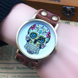 Einzigartig Schädel Drucken Retro Punk Uhr
