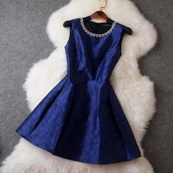Retro- eleganter wulstige Kragen Prinz Kleid / Parteikleid