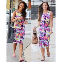 Mode Bunte Art-Drucken engen Kleid