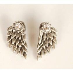Graceful Feather Angel Wings Rhinestone-Ohrringe