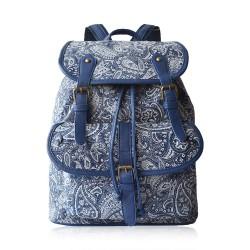 Elegante Retro Frische Blau-und Weiß-chinesische Art-Leinenrucksack-Spielraum-Beutel