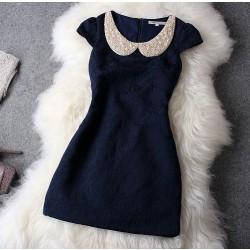 Einzigartige Glänzende Perlen Strass Wunderschöne Kleid Partei Kleid