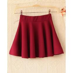 Süße elastische Taillen Ausgestelltes Kleid Rock