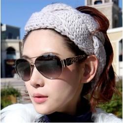 Mode Verdreht Spiral Wolle Haar Band gestrickt Stirnband