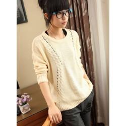 Neuer süßer College Style Twist Bat Sweater & Strickjacke