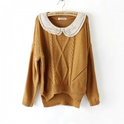 Neuer süßer unregelmäßiger Wollpullover & Cardigan
