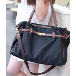 Mode Marine Platinum Segeltuch Handtasche Schultertasche