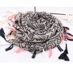 Mode Streifen Geometrie Schal Fransen Unendlichkeit Schal