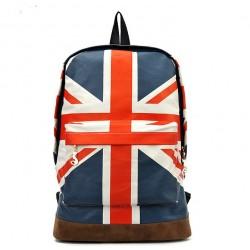 Mode Leinwand Britische Flagge Rucksack Umhängetasche Schultasche