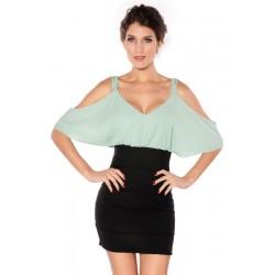 Einfache trägerlose Riemen-Kleid OL Kleid