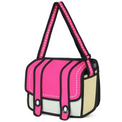 Karton zweite Element Karikatur Schultertasche Umhängetasche