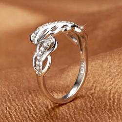 Federzogenen Platin-Silber-Öffnungs-Ring