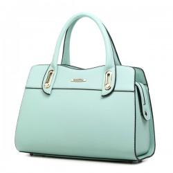 Damen Freizeit Einfache Solide Handtasche Hobotasche Leinentrage Umhängetasche