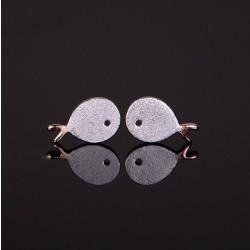 Frische nette Fisch 925er Silber Ohrring Scrubs