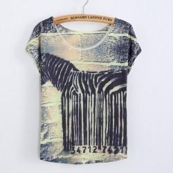 Lustiges Barcode-bedrucktes T-Shirt