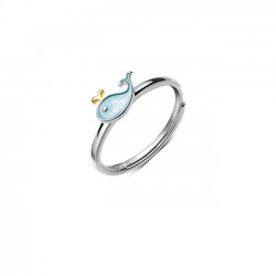 Reizender kleiner Wal-Delphin-Fisch-Mädchen-Tier-offener Ring