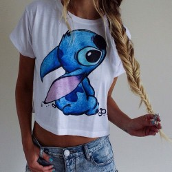 Karikatur Tiere Drucken T-Shirt oben