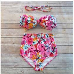 Bogen Bikini hohe Taille Bikinis drücken Badeanzug