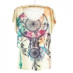 Mode Traum Fänger Gedruckt T-Shirt