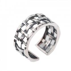 Vintage 925 Sterling Silber Frauen öffnen Webart Knoten Ringe