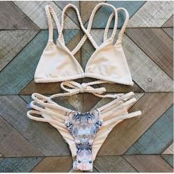 Woven Zöpfe Serpentine Sexy Bikini Set Badeanzug Strand Badeanzüge für Frauen
