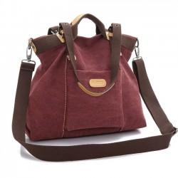 Retro Girls Multifunktions große Kapazität Satteltasche Umhängetasche Leinwand Handtasche