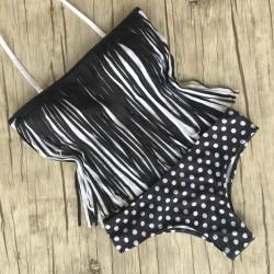 Tassel-Punkt-Badeanzug Sexy Bikini-Badeanzug-Badebekleidung