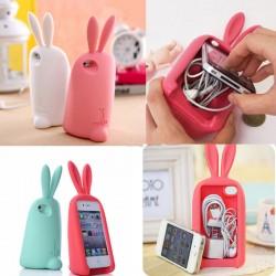 Niedlichen Kaninchen Lagerung Silikonhülle Für IPhone 4 / 4S / 5/6
