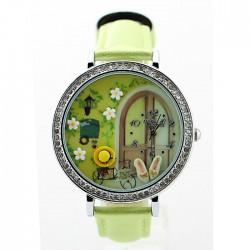 Frisch Garten Polymer Lehm Uhr