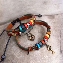 Handgemachte Leder Weben Liebhaber Armbänder