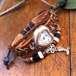 Herzförmige Retro-Mode-Armbanduhr