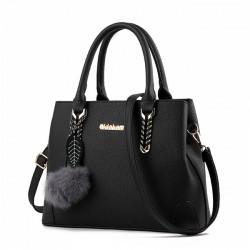 Elegante Damen-Twill Schultertasche Herbst Geldbörse Crossbody Taschen Winter Handtasche