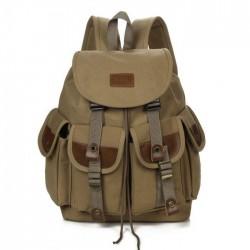 Leisure Four Pockets Outdoor Large Travel Rucksack Sport Backpack Men Canvas Backpack