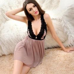 Sexy Anziehungsperspektive Nachthemd Pyjamas Spitzen Taille Sling Dessous