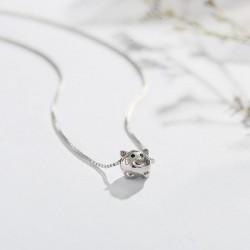 Schöne silberne Tier kleine Schwein Anhänger Frauen Halskette