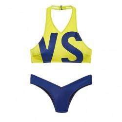 Einzigartige gedruckte athletische Bikini Set Buchstaben VS Badeanzug Bademode Badeanzug