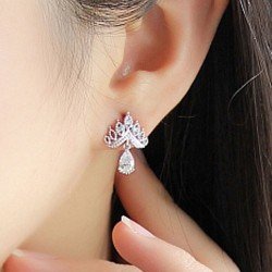 Glänzende Krone Ohrringe Wild Ohrschmuck Diamant Zirkon Ohrringe Ohrstecker
