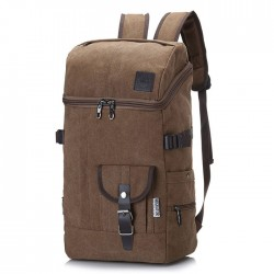 Leisure Mountaineering Drum Canvas Backpack Outdoor Large Travel Rucksack Sport Backpack