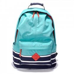 Frisch Süßigkeitsfarbe Hochschule Nylon Reisetasche Streifen Schule großer Rucksack